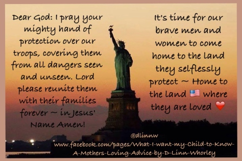 A Prayer for Our Service Men and Women
