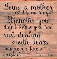mother's fears and strengths